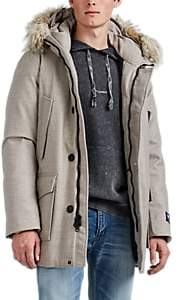 Woolrich Men's Fur-Trimmed Wool Down Parka - Beige, Tan