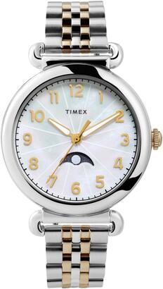 Timex Model 23 Moon Phase Bracelet Watch, 38mm