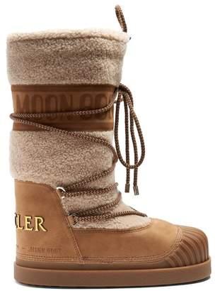 Moncler - X Moon Boot® Venus Shearling Aprés Ski Boots - Womens - Tan