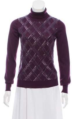 Salvatore Ferragamo Embellished Turtleneck Sweater