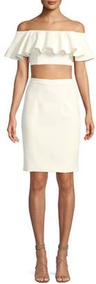 Jovani Two-Piece Crop Top & Straight Skirt