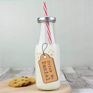 Oli & Zo 'Drink Me' Personalised Milk Bottle