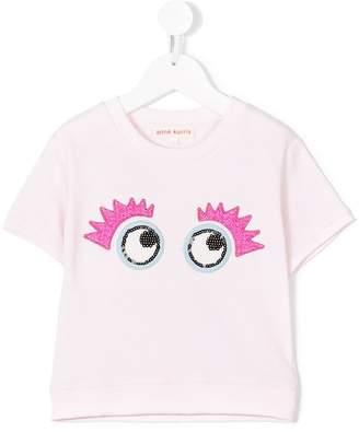 Anne Kurris embroidered eyes T-shirt
