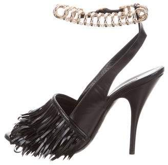 Balenciaga Chain-Link Ankle Strap Sandals