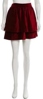 Steven Alan Tiered Mini Skirt