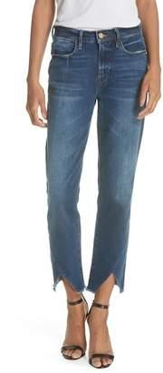 Frame Le High Straight Asymmetrical Hem Jeans (Kingsway)