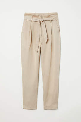 H&M Paper-bag Pants - Beige
