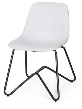 Wrought Studio Alexzander Contemporary Faux Leather Dining Chair (Set of 2) Wrought Studio