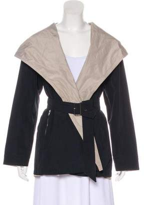 Max Mara Hooded Reversible Raincoat