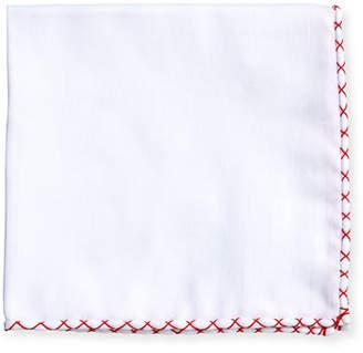 Brunello Cucinelli Stitched Trim Pocket Square