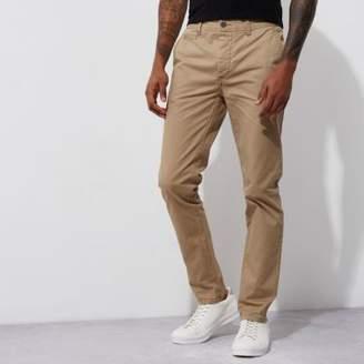 River Island Light brown stretch skinny chino pants