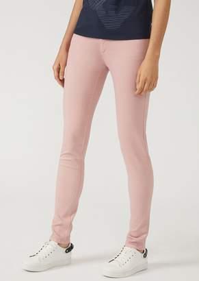 Emporio Armani J28 Super Skinny Five-Pocket Trousers In Gabardine