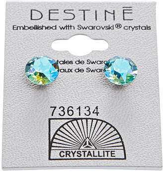 Crystallite Aqua Aura Diamond Earrings
