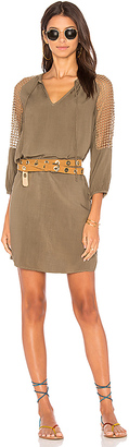 Michael Stars Mesh Mix Dress in Green $158 thestylecure.com