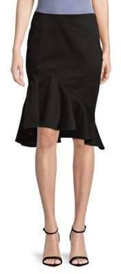 Lord & Taylor Plus Asymmetrical Ruffled Knee-Length Skirt