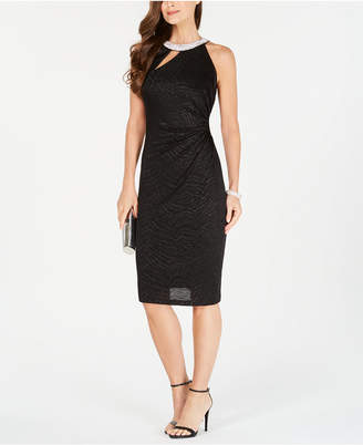MSK Embellished Cutout Sheath Dress