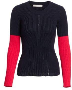 Cédric Charlier Colorblock Rib-Knit Sweater