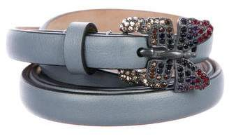 Valentino Butterfly Leather Belt