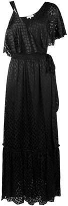 Diane von Furstenberg asymmetric sleeve gown