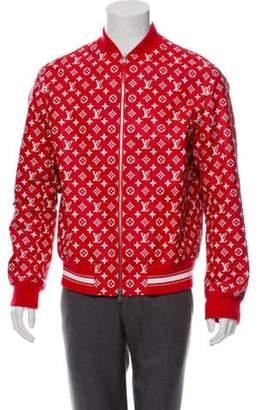 Louis Vuitton x Supreme 2017 Monogram Leather Bomber Jacket red x Supreme 2017 Monogram Leather Bomber Jacket