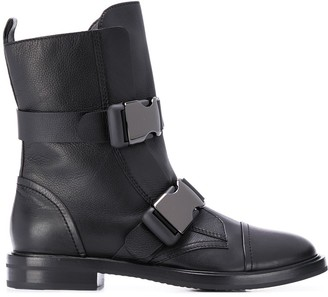 Casadei buckle strap boots