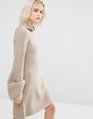 ASOS Sweater Dress with Bell Sleeves $62 thestylecure.com