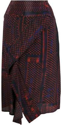 Lala Berlin patterned high-waisted skirt