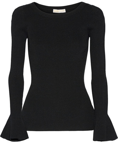 MICHAEL Michael Kors Ribbed Stretch-knit Sweater