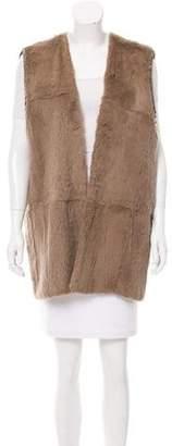 Nina Ricci Longline Fur Vest