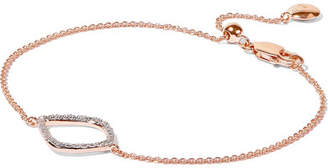 Monica Vinader Riva Kite Rose Gold Vermeil Diamond Bracelet - one size