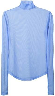 Nomia long-sleeve sheer top