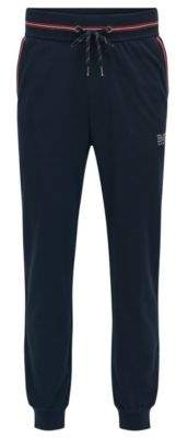 HUGO BOSS Piped Cotton Blend Jersey Lounge Pant Authentic Pant M Dark Blue