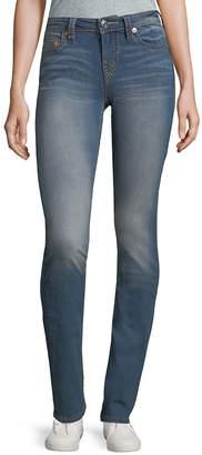 True Religion Women's Slim Straight Jeans - Blue, Size 28 (4-6)