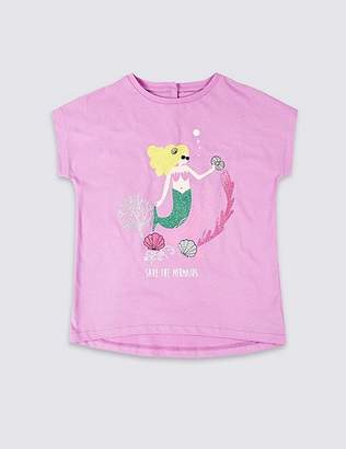 Marks and Spencer Easy Dressing Mermaid T-Shirt (3-16 Years)