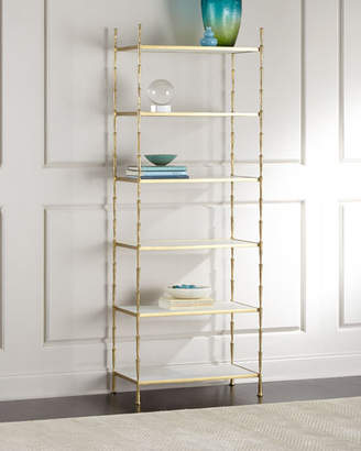 Global Views Kula Antiqued-Brass Etagere