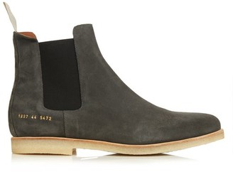 Common Projects Suede Chelsea Boots - Mens - Dark Grey