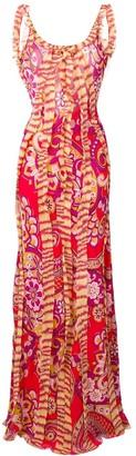 Etro ruffled paisley-print dress