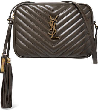 Saint Laurent Lou Quilted Leather Shoulder Bag - Dark brown ed1b58cfaa7b0