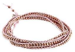Chan Luu Women's Rose Gold & Blush Cord Bracelet