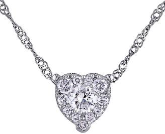 Diamond Select Cuts 14K 0.25 Ct. Tw. Diamond Heart Necklace