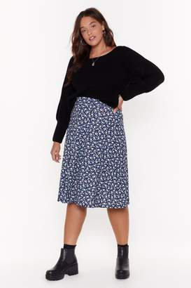 Nasty Gal Womens Don'T Grow Breakin' My Heart Plus Midi Skirt - Navy - 22