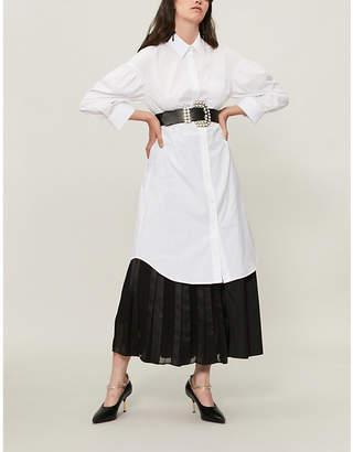 Simone Rocha Oversized cotton-poplin shirt