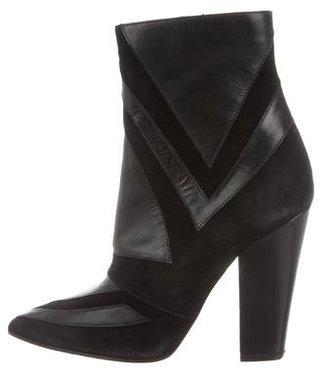 Laurence Dacade Leather Pointed-Toe Ankle Boots $225 thestylecure.com