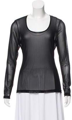 Anne Fontaine Sheer Long Sleeve Top