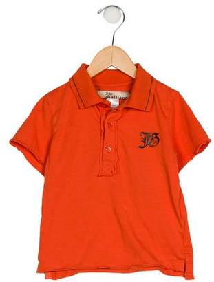John Galliano Boys' Collar Short Sleeve Shirt