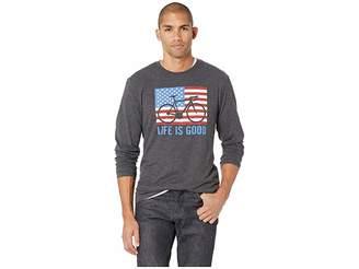Life is Good Bike Partisan Long Sleeve Cool T-Shirt