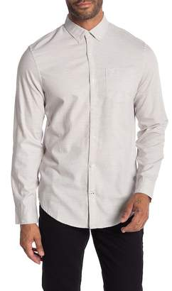Original Penguin Heathered Long Sleeve Heritage Slim Fit Shirt