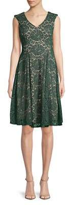 Gabby Skye Lace Fit-&-Flare Dress