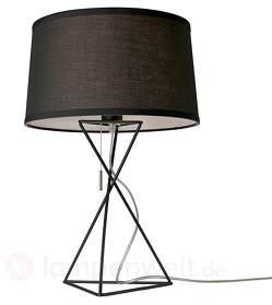 Schwarze Textil-Tischlampe New York