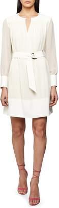 Reiss Finn Long Sleeve Belted Dress